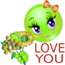 download Love You Girl Smiley Emoticon clipart image with 45 hue color