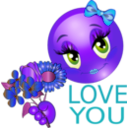 download Love You Girl Smiley Emoticon clipart image with 225 hue color