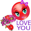 download Love You Girl Smiley Emoticon clipart image with 315 hue color