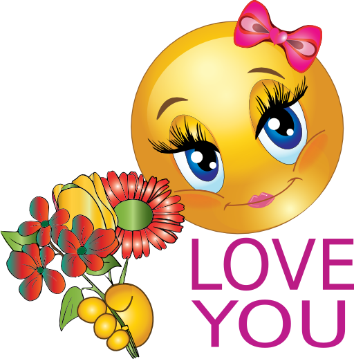 Love You Girl Smiley Emoticon Clipart | i2Clipart ...
