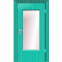 download Door clipart image with 135 hue color