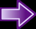 Purple Arrow Shape