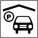 download Hotel Icon Has Indoor Parking clipart image with 45 hue color