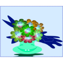 download Cheerful Bouquet clipart image with 135 hue color