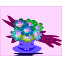 download Cheerful Bouquet clipart image with 225 hue color