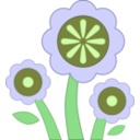 download Blue Flower clipart image with 45 hue color