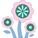 download Blue Flower clipart image with 135 hue color