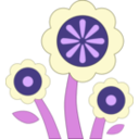 download Blue Flower clipart image with 225 hue color