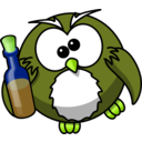 download Drunk Owl clipart image with 45 hue color