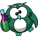 download Drunk Owl clipart image with 135 hue color