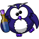 download Drunk Owl clipart image with 225 hue color