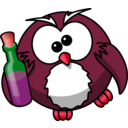 download Drunk Owl clipart image with 315 hue color