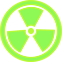 download Radioactive Warning clipart image with 45 hue color