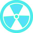 download Radioactive Warning clipart image with 135 hue color