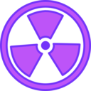 download Radioactive Warning clipart image with 225 hue color