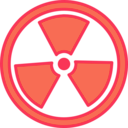 download Radioactive Warning clipart image with 315 hue color