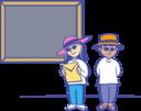 Kids In Front Of A Blackboard