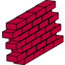 download Red Brick Wall clipart image with 315 hue color