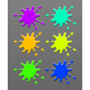 download Ink Splashes clipart image with 45 hue color