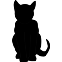 download Black Cat clipart image with 225 hue color