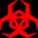 Malware Hazard Symbol Red