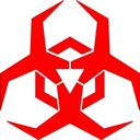 Malware Hazard Symbol Red