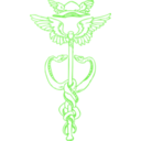 download Golden Caduceus clipart image with 45 hue color