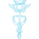 download Golden Caduceus clipart image with 135 hue color