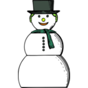 download Snow Woman clipart image with 45 hue color