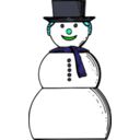 download Snow Woman clipart image with 135 hue color