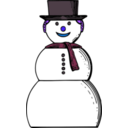 download Snow Woman clipart image with 225 hue color