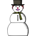 download Snow Woman clipart image with 315 hue color