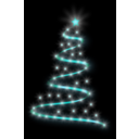 download Modern Christmas Tree 4 clipart image with 135 hue color