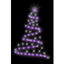 download Modern Christmas Tree 4 clipart image with 225 hue color