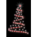 download Modern Christmas Tree 4 clipart image with 315 hue color