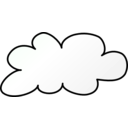 download Weather Symbols Cloud clipart image with 315 hue color