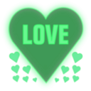download Love In A Heart clipart image with 135 hue color