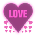 download Love In A Heart clipart image with 315 hue color