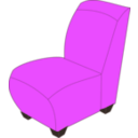 download Blue Armless Chair clipart image with 45 hue color