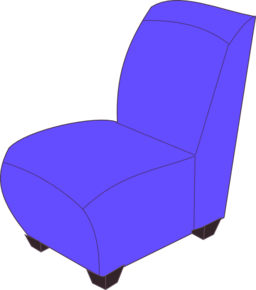 Blue Armless Chair