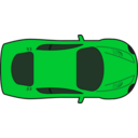 download Red Racing Car Top View clipart image with 135 hue color