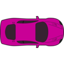 download Red Racing Car Top View clipart image with 315 hue color