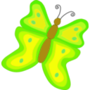 download Yellow And Orange Butterfly clipart image with 45 hue color