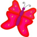 download Yellow And Orange Butterfly clipart image with 315 hue color