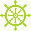 download Captains Wheel clipart image with 45 hue color