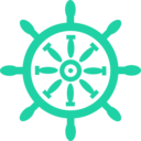 download Captains Wheel clipart image with 135 hue color