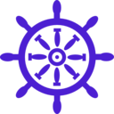 download Captains Wheel clipart image with 225 hue color