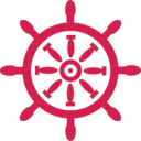 download Captains Wheel clipart image with 315 hue color