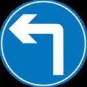 Roadsign Turn Ahead