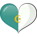 download Algeria Heart Flag clipart image with 45 hue color
